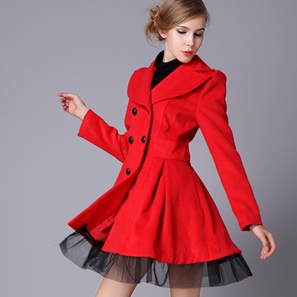 Abrigos de mujer rojo