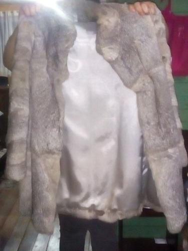 abrigo de piel de conejo