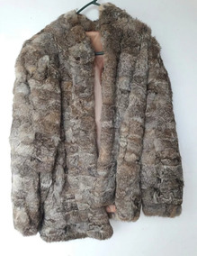 comprar online ff301 f18f1 Abrigo De Piel De Conejo Elegante