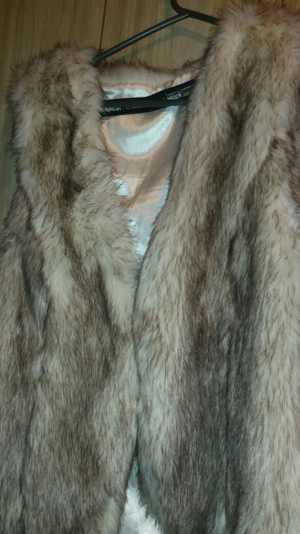 abrigo de piel sintetica peludo chaleco pelos. Cargando zoom. f4302d6a6977