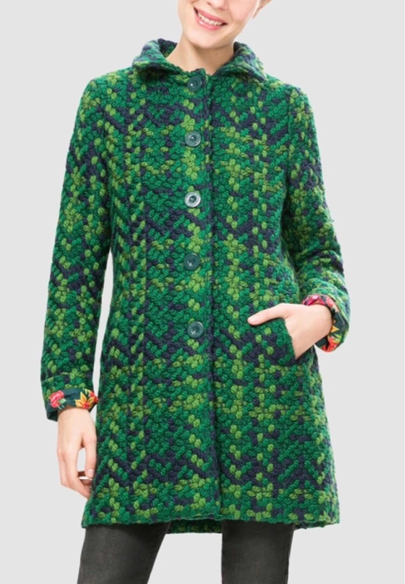 online store d9e60 46ebe Azul 550 En Libre 00 Desigual Mercado 2 Verde Abrigo TwOpqq