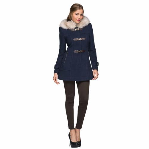 abrigo elegante de mujer con gorro af6616