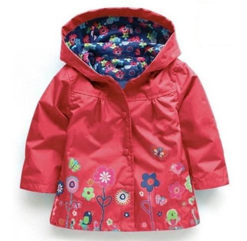 abrigo estampado para niñas nuevo rojo o amarillo