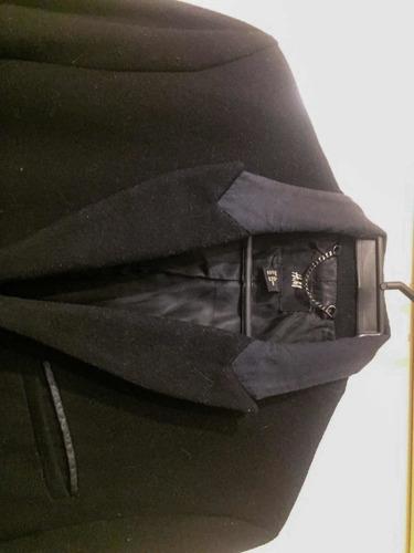 abrigo gabán invierno largo marca  h&m negro, importado
