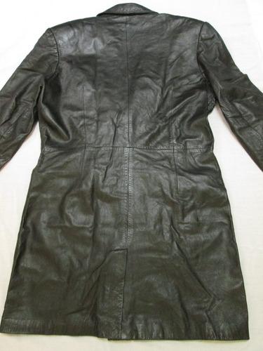 abrigo gaban largo cuero para hombre talla grande