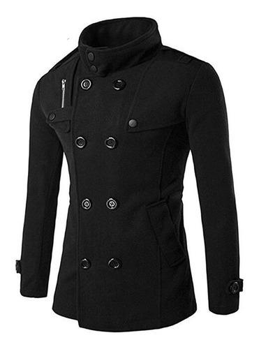 abrigo grueso hombre d lana chamarra larga caballero calient