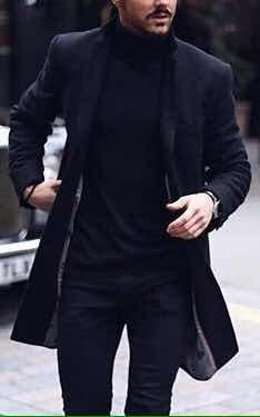 promoción especial auténtico brillo encantador Abrigo Hombre Paño Grueso Casual De Vestir Tallas Disponible