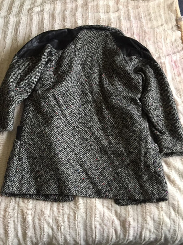 abrigo lana con piel