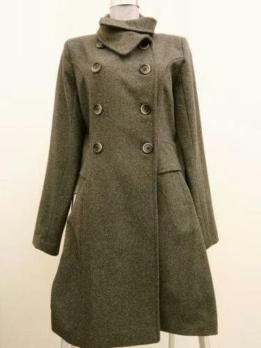 abrigo largo cruzado gris oxford