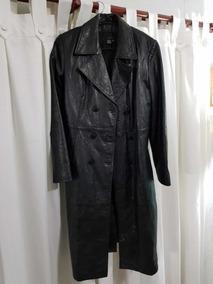 nuevo estilo b83a5 87b26 Abrigo Largo De Cuero, Mujer Zara