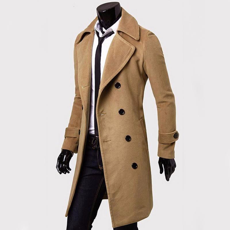 8068cc7525bc1 abrigo largo elegante slim fit para hombre. Cargando zoom.