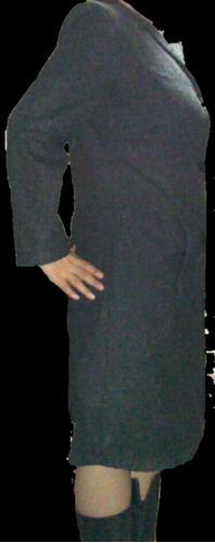 abrigo largo lana importada gris oxford m/l sin olores