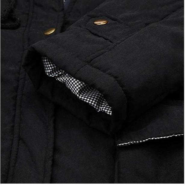 Negro Largo Invierno Mujer Abrigo Lookatoo1 Para Frio wXRqdgd