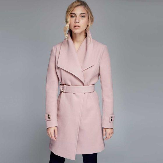 Para Cruzado 245 Corte En Mercado Mujer 00 Largo Rosé Abrigo 1 Iw5q7pBx