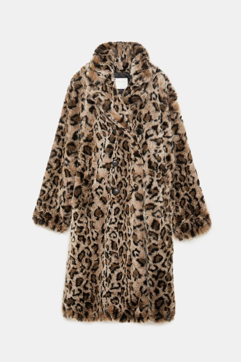 Abrigo Leopardo Zara Talla M
