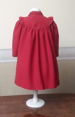 abrigo liviano importado nena 2-3 años, cacharel, francia