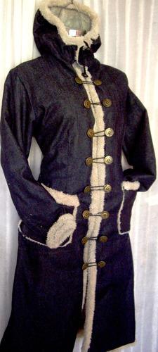 abrigo mezclilla borrega moda invierno tallas extras 40 a 50