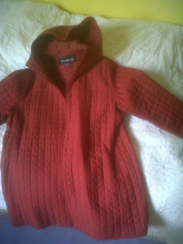 abrigo mujer weatherproof color rojo