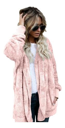 abrigo mujeres más el tamaño piel sintética caliente largo