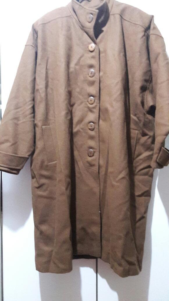 1867bf77ecc abrigo paño largo marrón xxl grande. Cargando zoom.