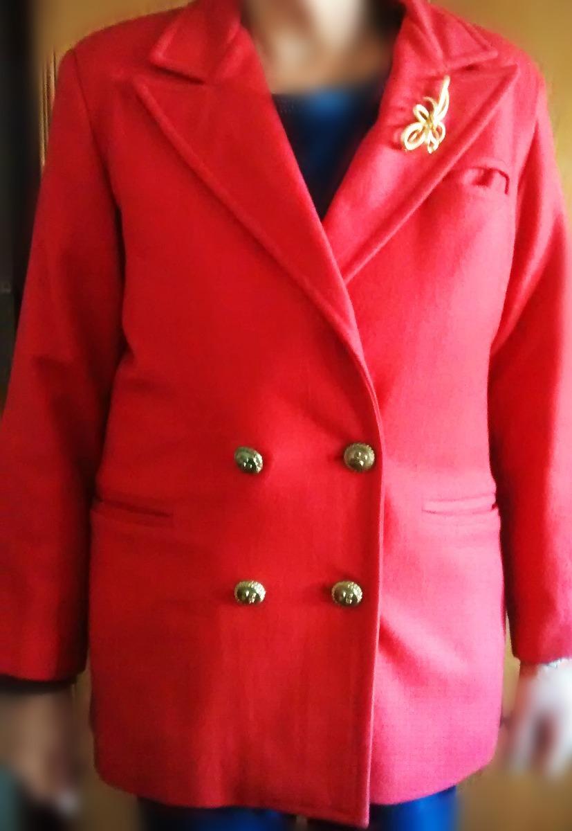 83f06443220af abrigo paño rojo mujer tapado sacon colorado dorado talle m. Cargando zoom.