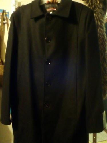 abrigo para hombre color negro