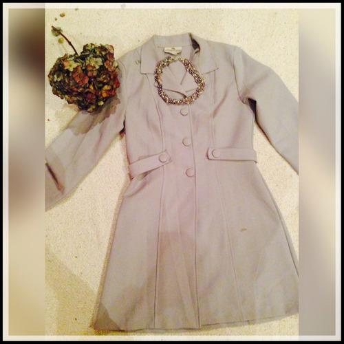 abrigo para vestido formal sobretodo color gris talla s