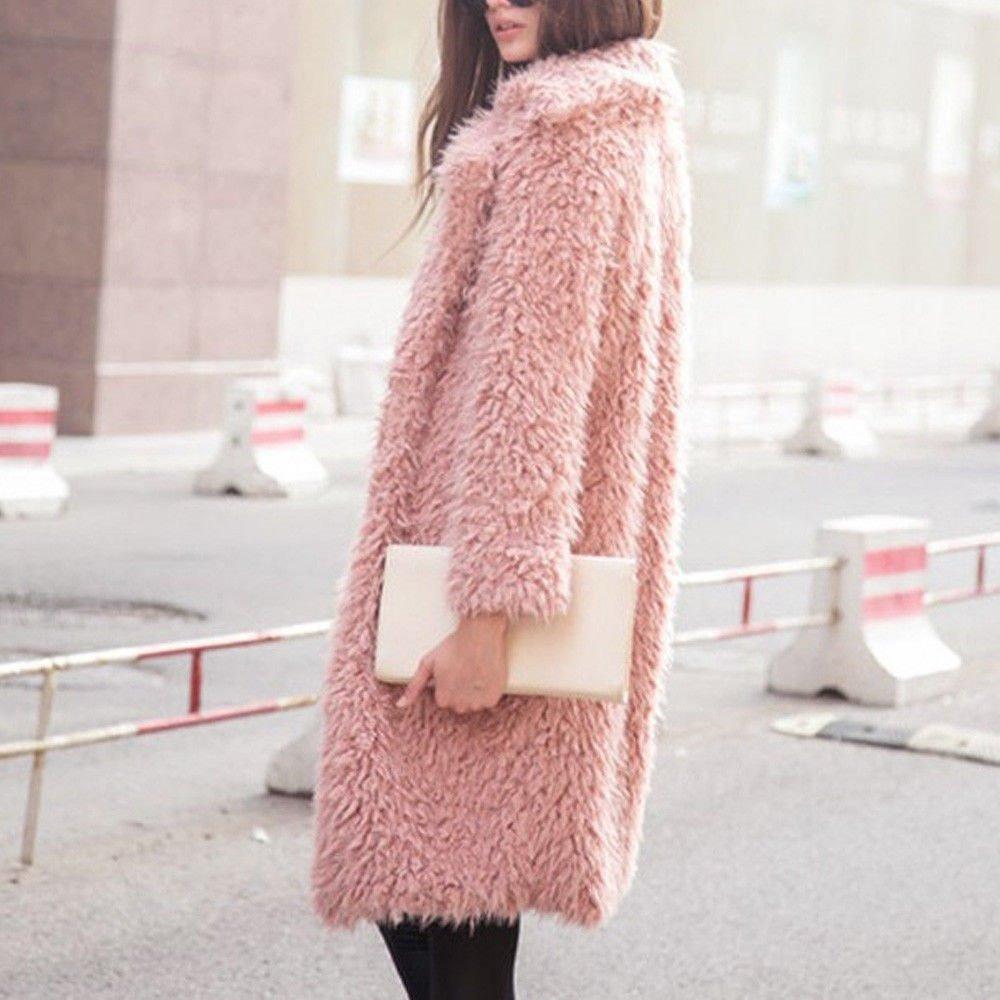 Abrigos mujer rosa
