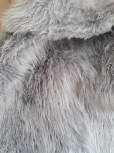 abrigo piel sintetica. ideal fiesta. nuevo