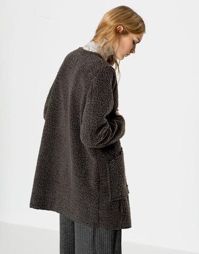 Pull and bear abrigo borreguillo