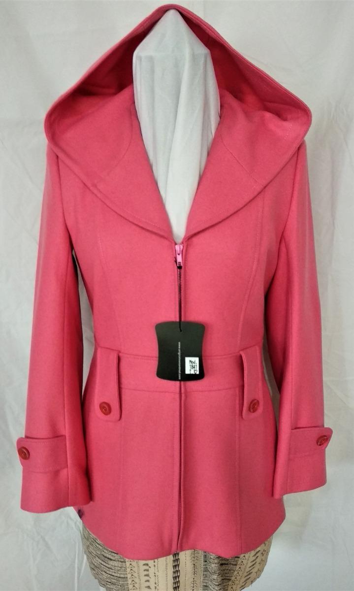 1e1913cb6c297 abrigo saco con capucha de lana para mujer. Cargando zoom.