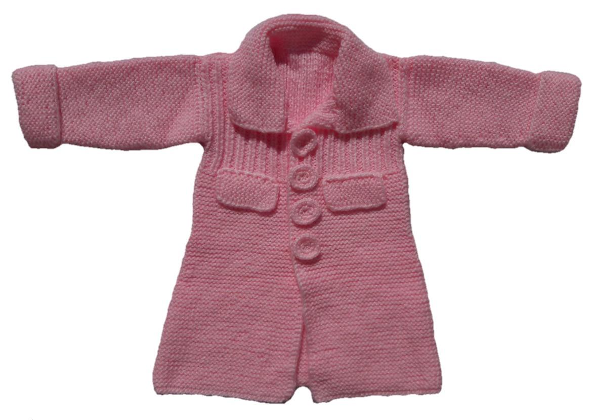 de4c40367 Abrigo (tapado) Para Nena Bebé De Lana Para 1 Año De Edad -   450