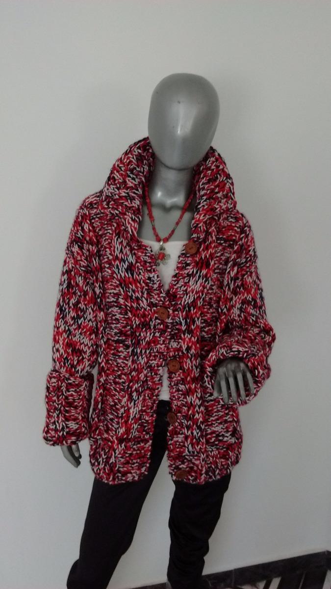 Abrigo tapado tejido