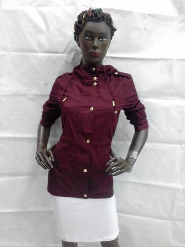 abrigo vino de dama moderno corto