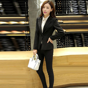 e0000fce7 Saco Mujer Formal Moda Juvenil Estilo Japonés Cuello V Clase