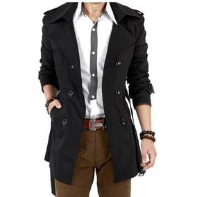 7dd109148dd8e Sacos Gabardinas Con Cinto Envio Gratis Slim Fit Moda 1 Dia!