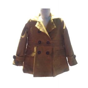 2ccac3349061c Abrigo Para Niña Color Mostaza Y Gris Con Forro Satén