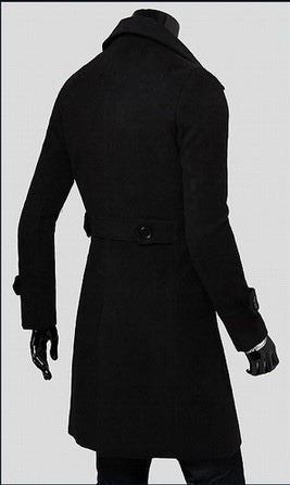 abrigos hombre elegantes largos moda slim fit solapa tres