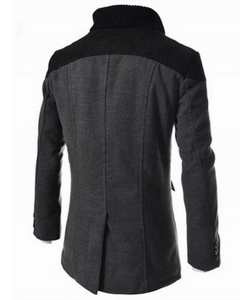2020 en pies tiros de en venta Abrigos Hombre Slim Fit Cuello Alto Moda Elegante Japonesa
