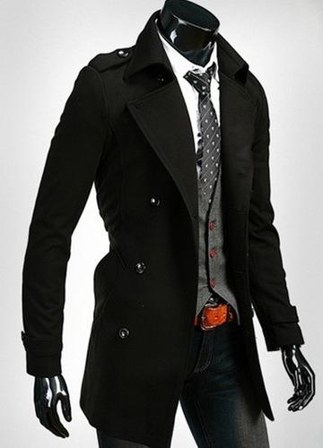 Fit Slim Largo Abrigos U Moda Japonesa s Entallado Hombre Casual EfwE1xt5q