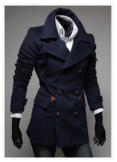 67ee16193 Abrigos Japoneses Hombre Elegantes Moda Slim Fit Importados