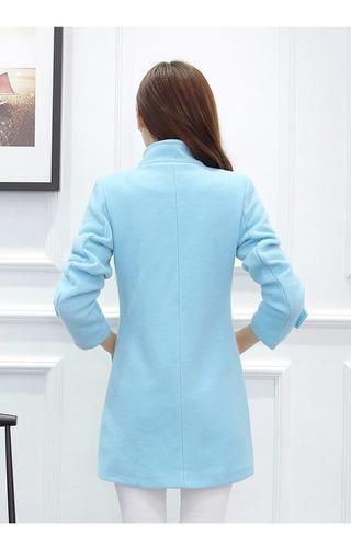 abrigos mujer formal corto doble botón juvenil moda asiática