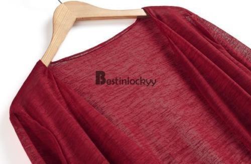 abrigos y chaquetas de moda coreana mujeres... (wine red,.)
