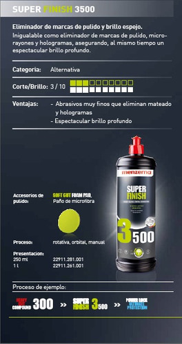 abrillantador menzerna super finish 3500 1lt