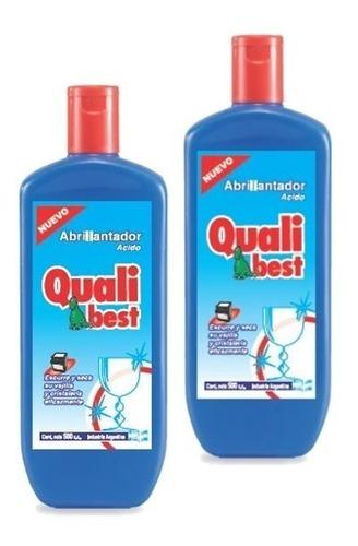 abrillantador para lavavajillas qualibest 500ml pack 2un