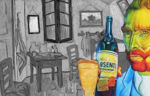 absenta van gogh licor 750ml botella original 01almacen