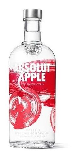 absolut apple vodka de suecia botella de 750 ml manzana