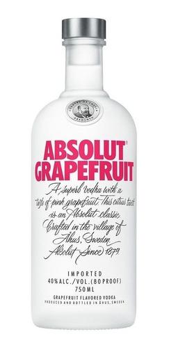 absolut grapefruit - unicos en el pais