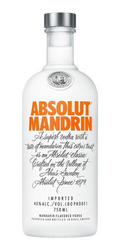 absolut mandrin vodka suecia botella de 750 ml mandarina