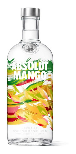 absolut mango vodka suecia botella de 750 ml